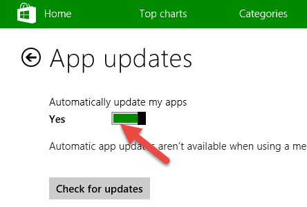 how to stop automatic app updates windows 10