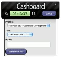 Cashboard Dashboard Widget for Mac