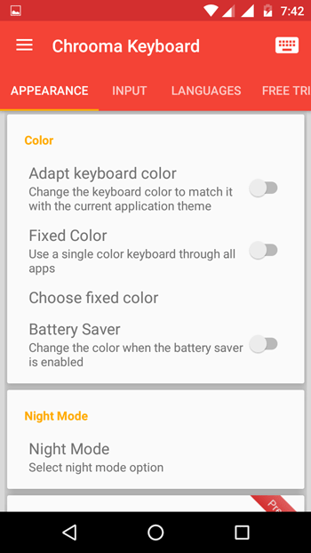 Change Keyboard Color of Android