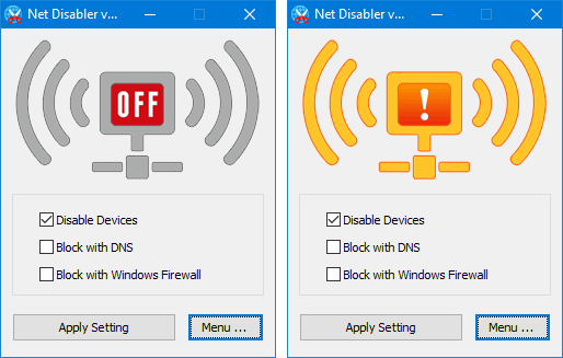 Disable Internet on PC for A Particular Time using NetDisabler