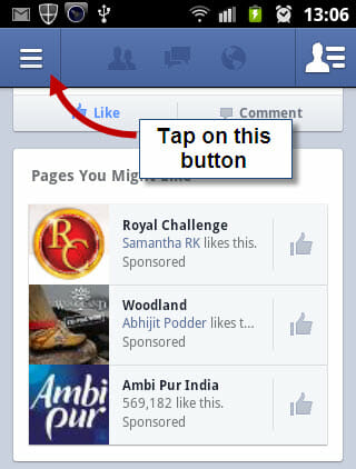 Facebook-for-Android-App-tap-the-button