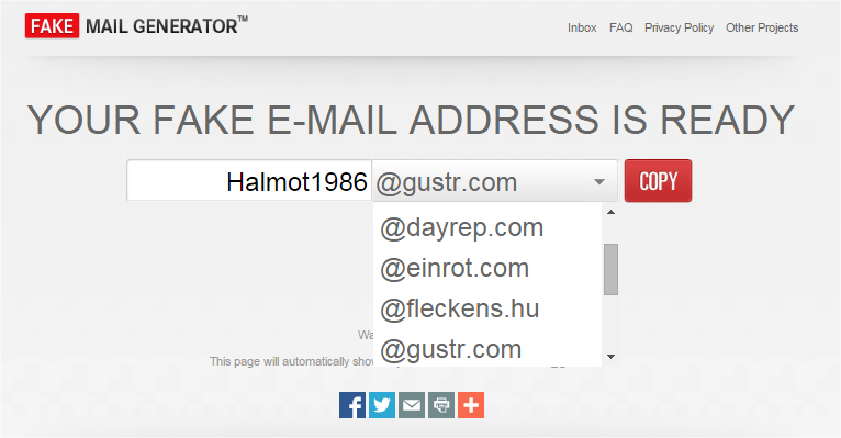 how to set up a fake email address