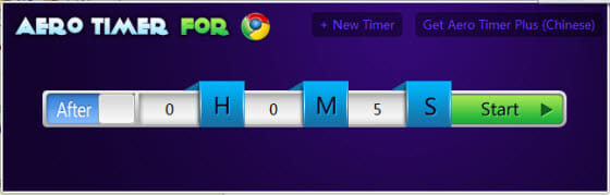 Google Chrome Timer extension
