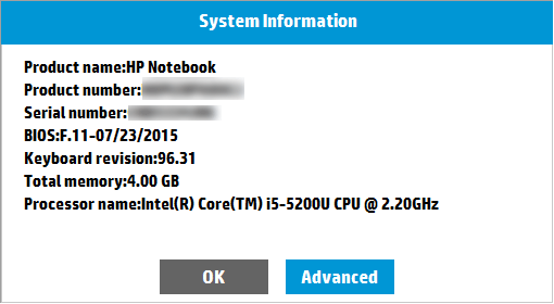 How to Disable HP System Information Popup