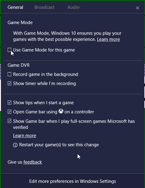 How to Turn on Game Mode in Windows 10
