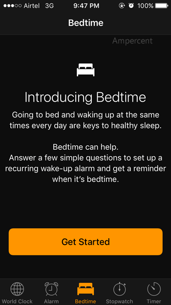 How to setup Bedtime in iOS 10
