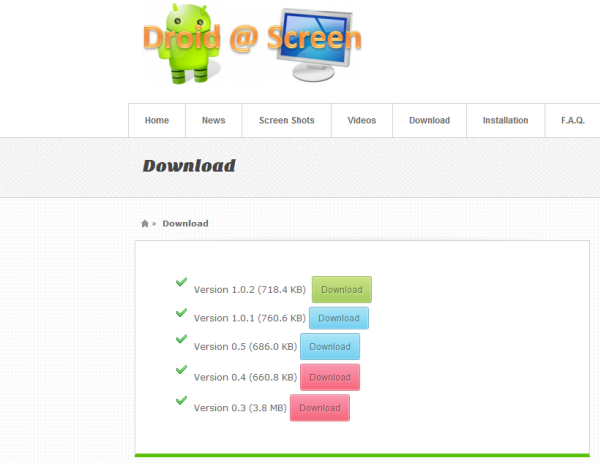 Latest version download - Show Android screen on PC