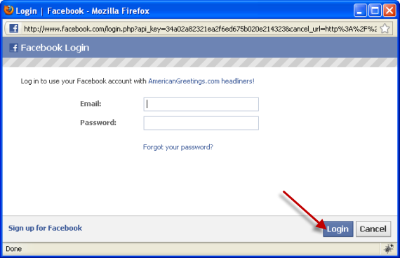 Login To Your Facebook Account