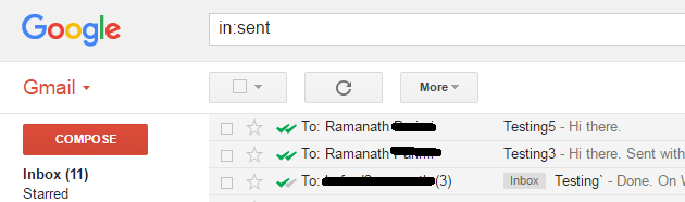 Double tick notifications on emails that has been read