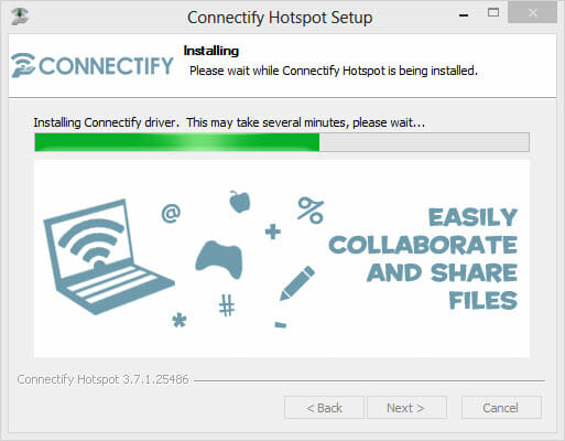 Run the Connectify Hotspot Setup Wizard.