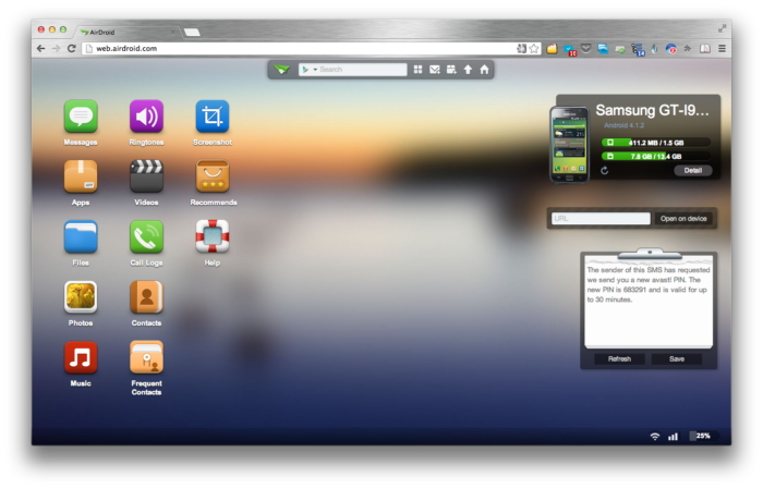 AirDroid - Google Chrome