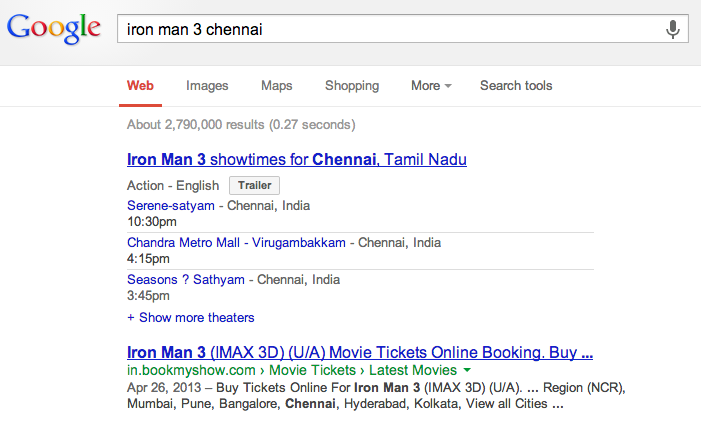 Movie Timings - Google Search
