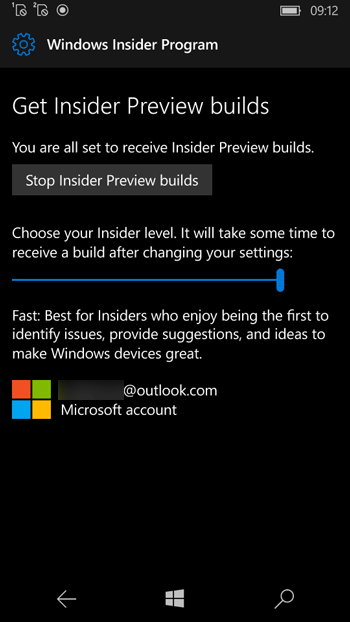 Stop Windows Insider Preview Builds in Windows Phone 10