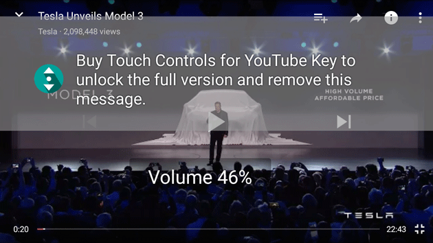 Touch Control on Youtube
