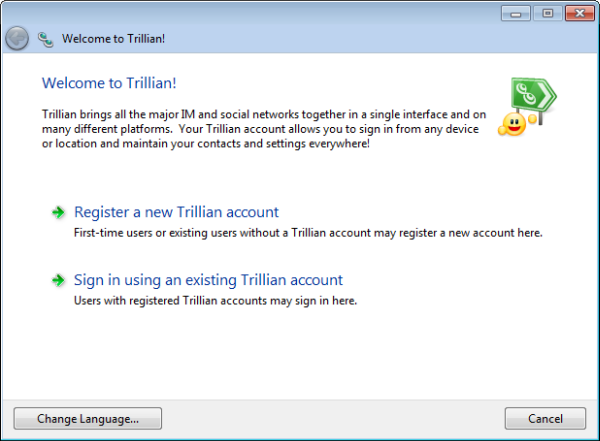 Trillion account - all in one chat messenger for pc