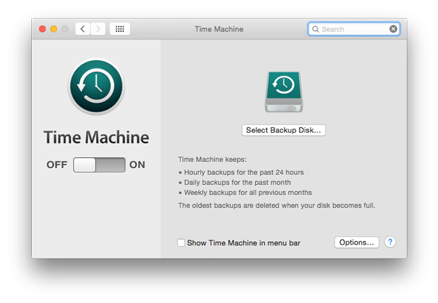 restoring data from time machine