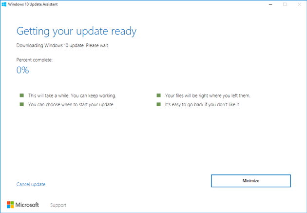 windows 10 upgrade assistant for anniversary update
