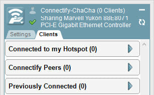 View Client information pertaining to your Connectify Hotspot.