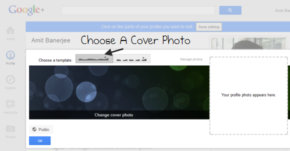 Add cover photos in Google Plus