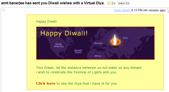 diwali greetings email template