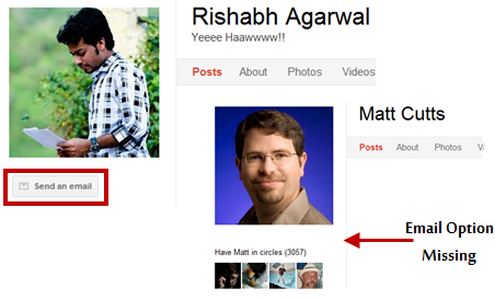 Setting up Email options in Google Plus profile