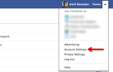 remove application permissions from Facebook account