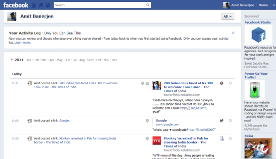 Clean Up Your Facebook Profile Timeline Using Facebook Activity Log
