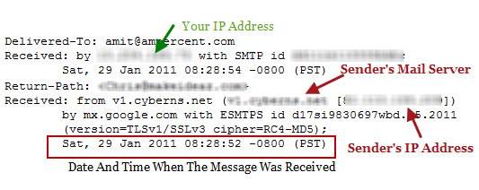 Find Email Trace Route, Mail Server And Location