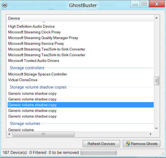 Remove Device information from Windows registry - Ghostbuster
