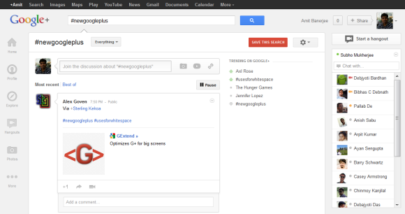 The new Google Plus design