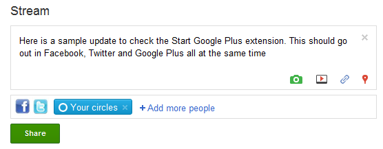 Update Facebook And Twitter From Google Plus