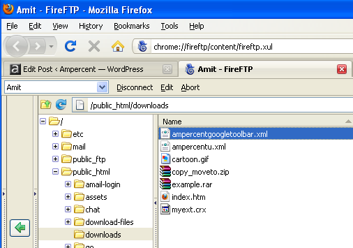Use Firefox to Connect and Upload files to FTP server