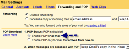 Forward and Imap Settings
