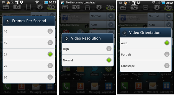 screencast-recorder-options