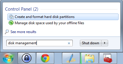 Create and format hard disk or USB partitions