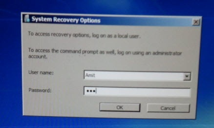 System recovery in Windows7