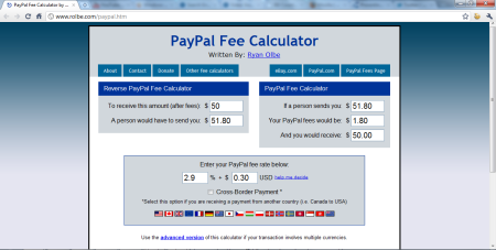Calculate Paypal Fees