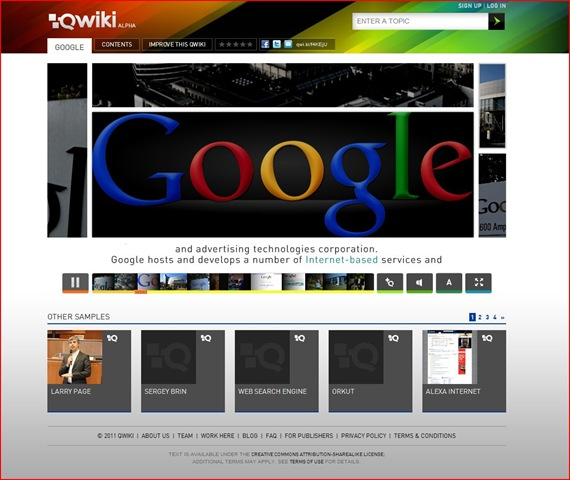 A Qwiki Search For Google