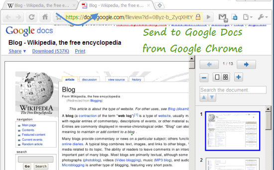 send-to-google-docs-from-chrome