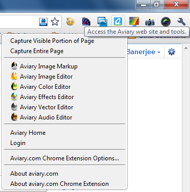 Aviary Image tools for Google Chrome