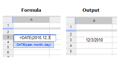Converting a Date to Internal serial number in Google Docs