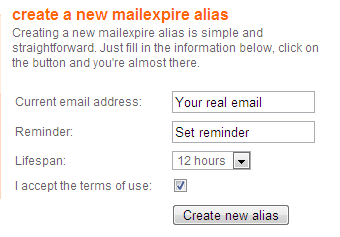 destroy temporary email address