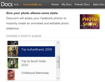 Create a Photo Slideshow of a Facebook Photo Album