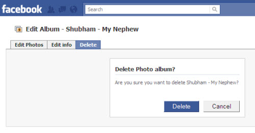 Delete Pictures From Your Facebook profile, wall or Photo albums
