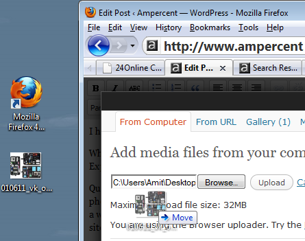 Drag and Drop to Upload Photos In WordPress Post Editor