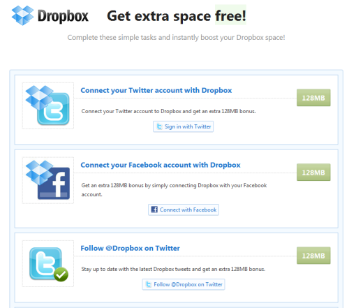 Get Extra Dropbox Space Without Referall Signups