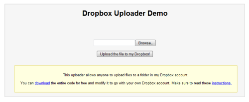 Dropbox Uplaoder- Allow anyone to upload files to your Dropbox account
