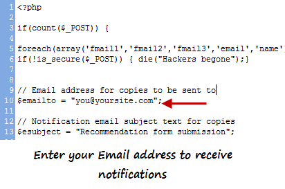 Get notification email when someone emails your blog post