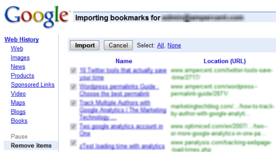 Transfer Delicious Bookmarks To Google Bookmarks