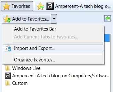 Internet Explorer | Export and Import Favorites